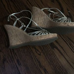 Sandals gold wedge